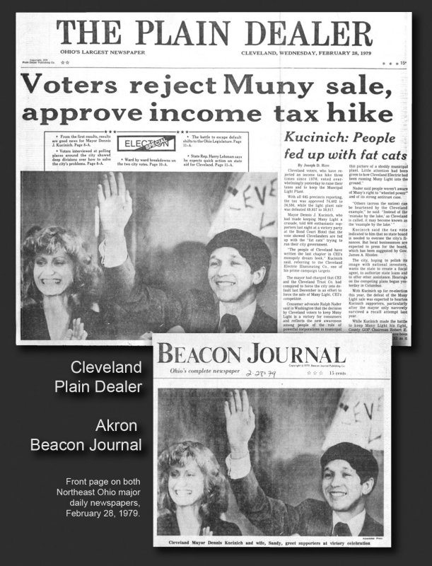 Dennis Kucinich, two front pages