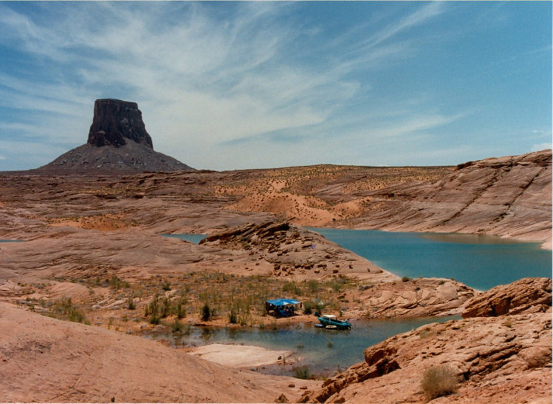 Tower Butte seen from  Camp in Labyrinth Canyon