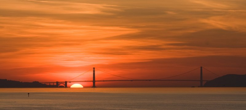 Sunset at Golden Gate 12/8/2008