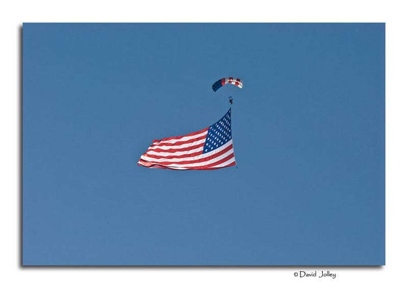 Opening Ceremonies, The American Flag Unfurled