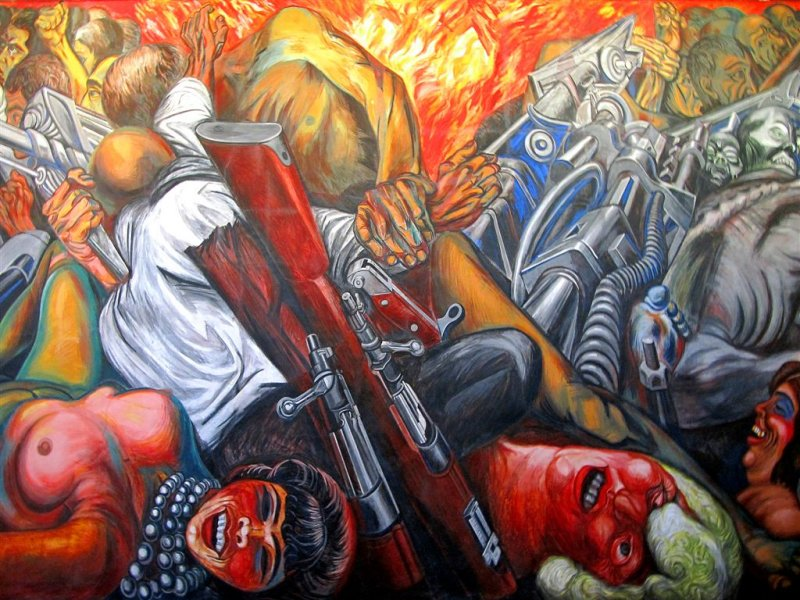 Revolution by Diego Rivera, Mexico City