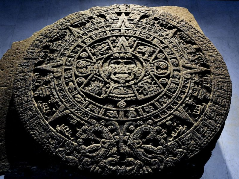 Aztec Model Of Universe, Museum of Anthropology, Mexico City
