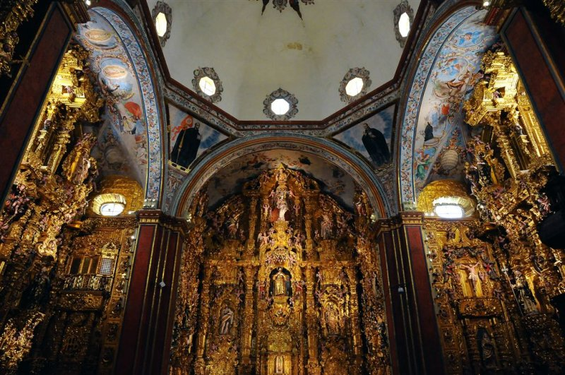 The Church of San Francisco Javier, Tepotzotlan