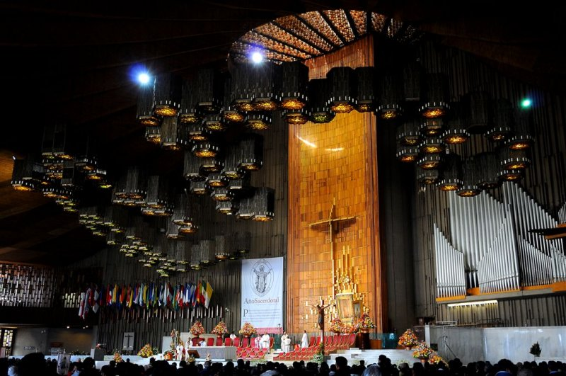 Service in Basilica of Guadalupe, Mexico City