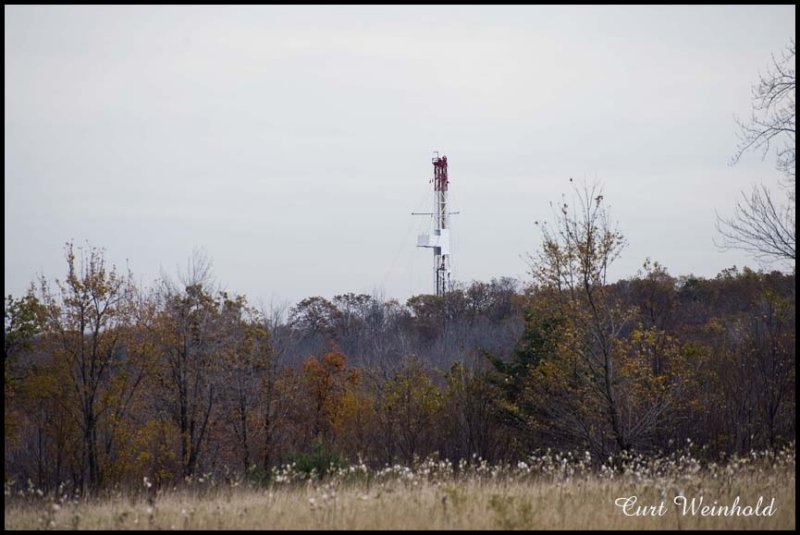 Drilling rig setup in Clinton County by Anadarko