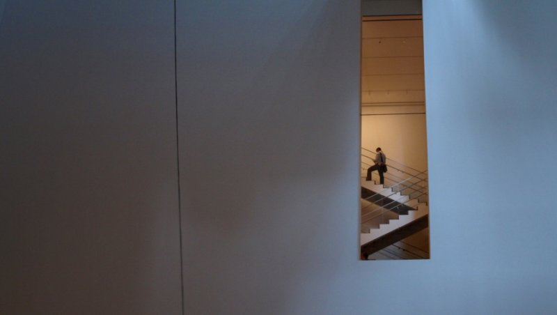 A lonely figure at MOMA