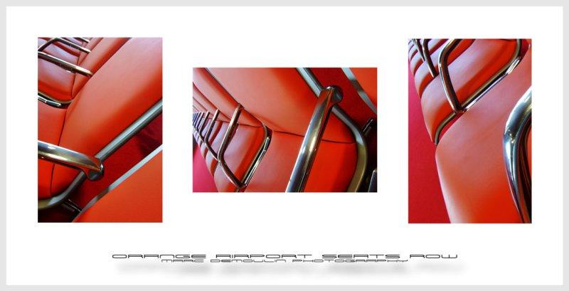 Orange airport  seats row