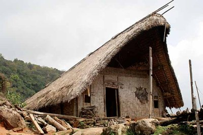 Morung in Hejaichak, North Cachar Hills, Assam, India