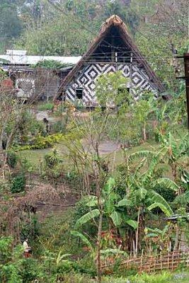 morung in Boro Haflong, North Cachar Hills, Assam, India