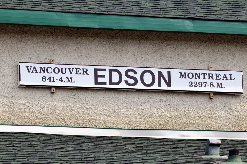 Edson AB Station Sign