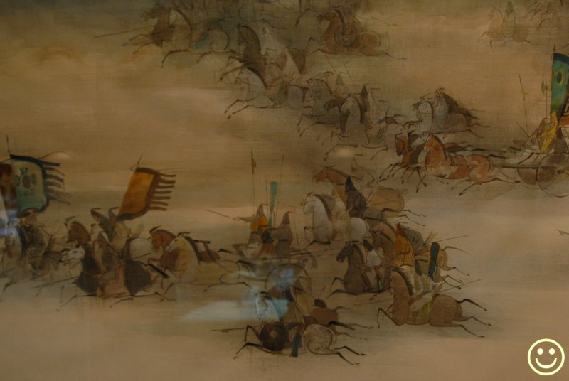 DSC_6713 Heroes or bandits!? Part of scroll by Ying Po-chong 1940 - .jpg