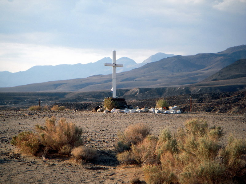 cross near Owens Lake