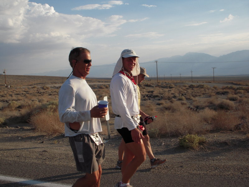 Chris Frost and Steve Teal about mile 100