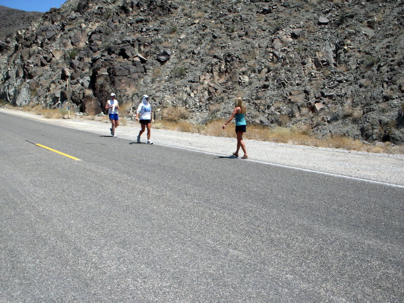 She set a record to the summit of Whitney (from Badwater)
