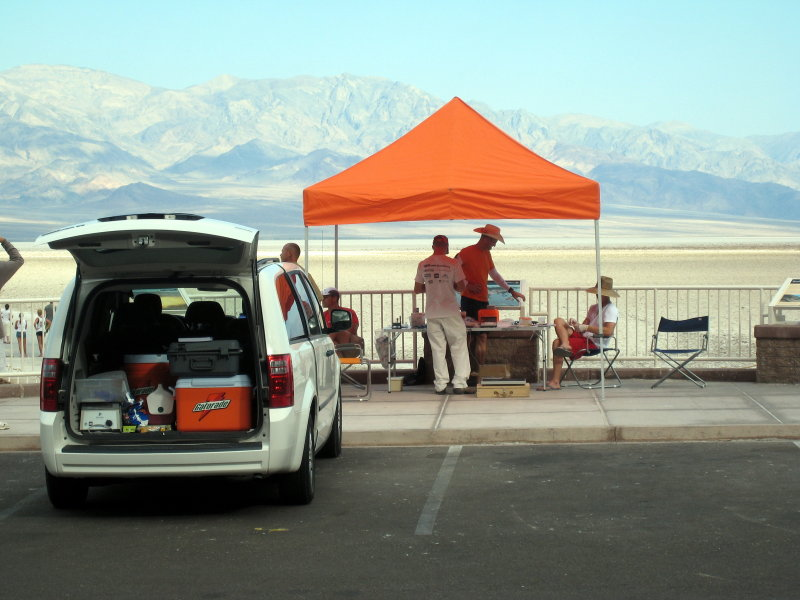research tent