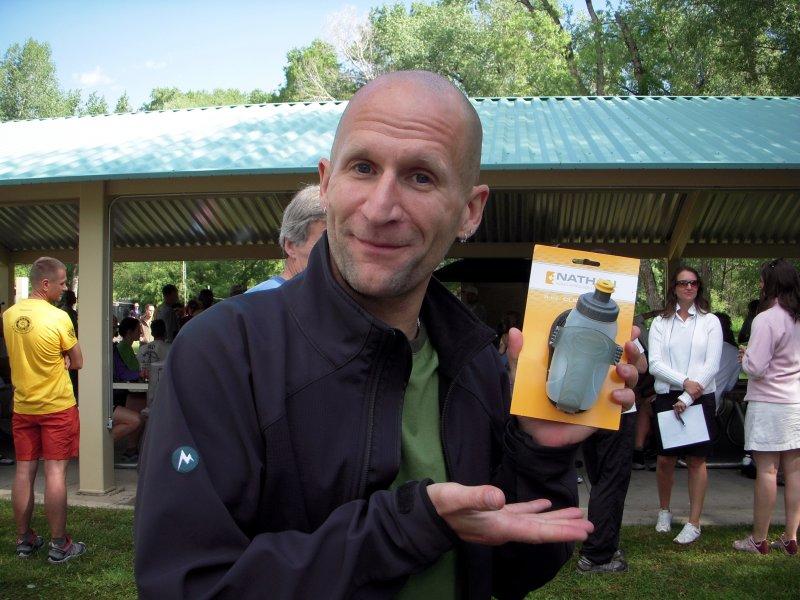 Tim wins a fabulous door prize