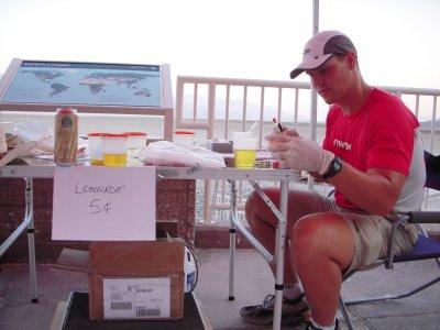 Lemonade?  NOT!  U of Montana researchers gathering samples at the start