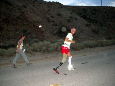 Dan Jensen, Vietnam veteran and amputee is climbing the last 13-mile stretch up Mt. Whitney.