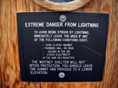 sign on the hut