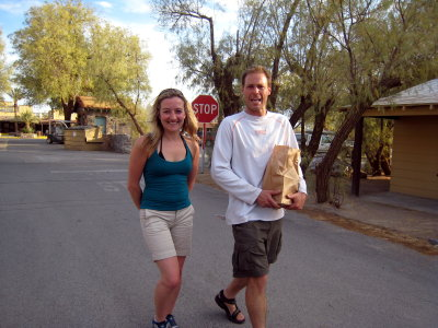 Vanessa and Dave - JUST MARRIED three days ago!   A Death Valley honeymoon.