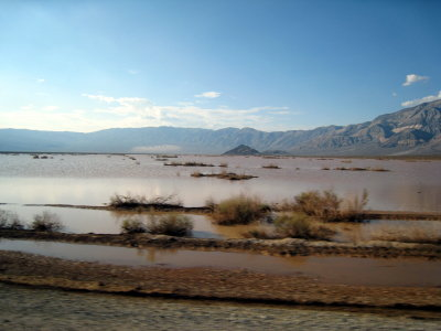 Panamint is flash flooded from the rains