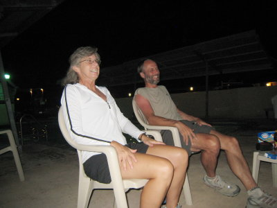 Bonnie & Scott telling stories