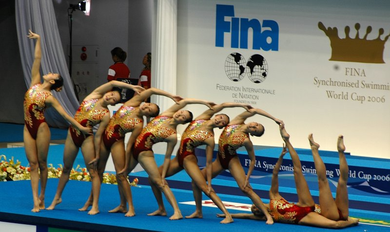 The Chinese team starting formation