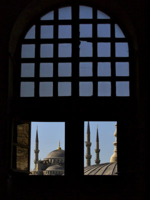 The Blue Mosque, as seen from Hagia Sofia, Istanbul, Turkey, 2009