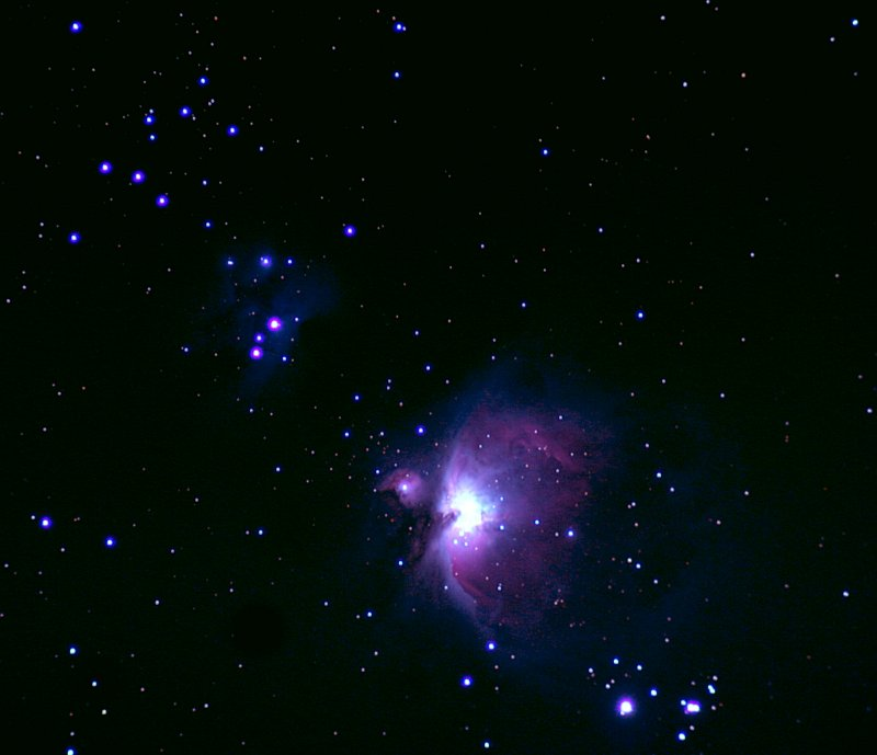 M42  and M43 Orion Visible