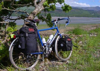 113  Hywel - Touring Wales - Thorn XTC touring bike
