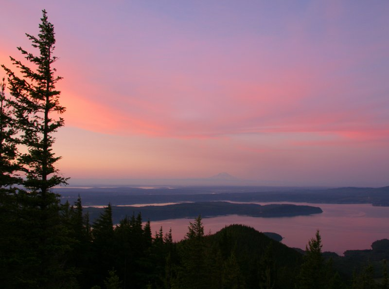 Sunrise over the Hood Canal