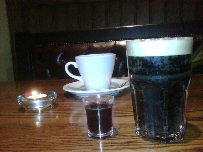 Jager/ Guinness/ tea