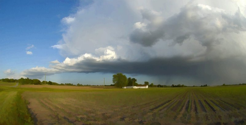 Storm Over Farmland