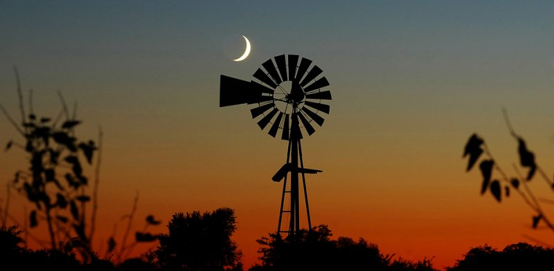 Moon & Windmill (Composition #3)