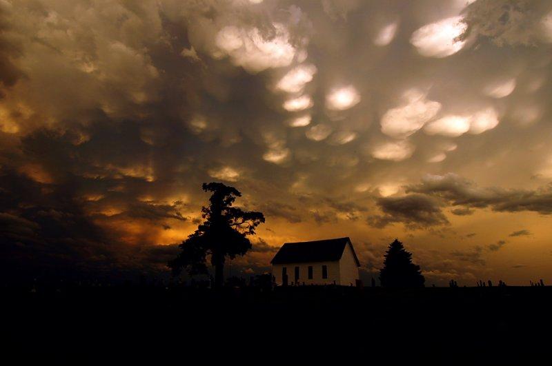 Mammatus Clouds Above the Old Brick Church