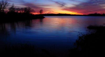 Deep Blue Sky Reflection