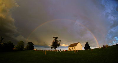 Rainbow at the Old Brick Church