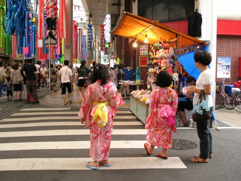 Little girls in yukata