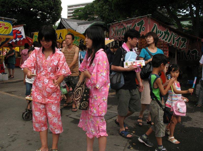 Young girls in jinbei