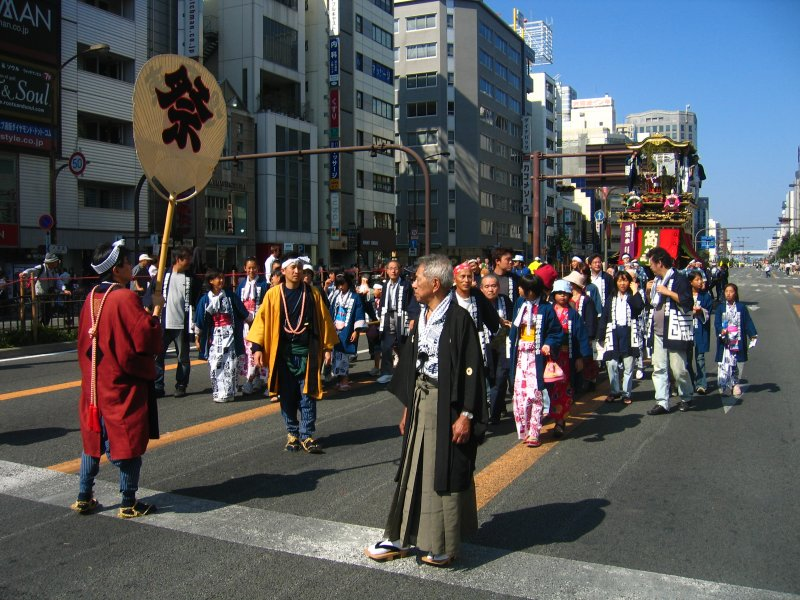 Final group of dashi float paraders