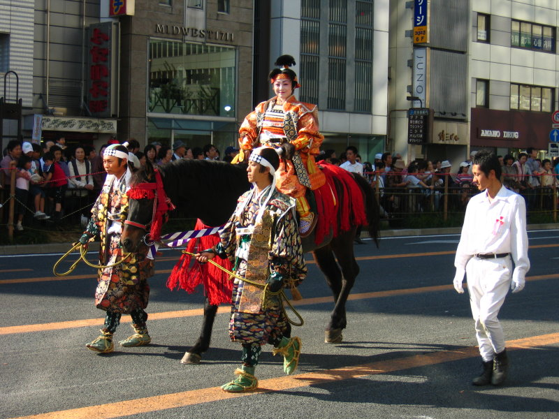 Oda Nobunagas wife on horseback