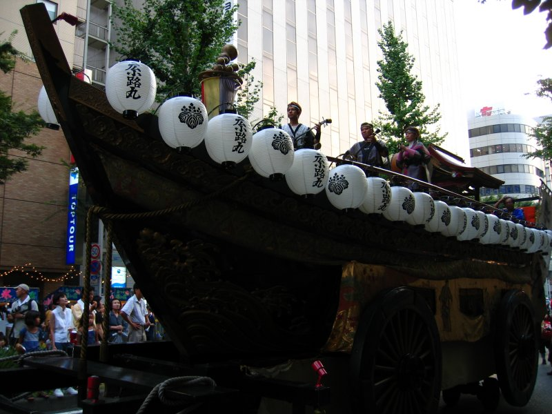 Okinawan-style boat in the parade