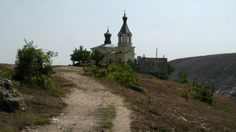 Path to the hilltop church
