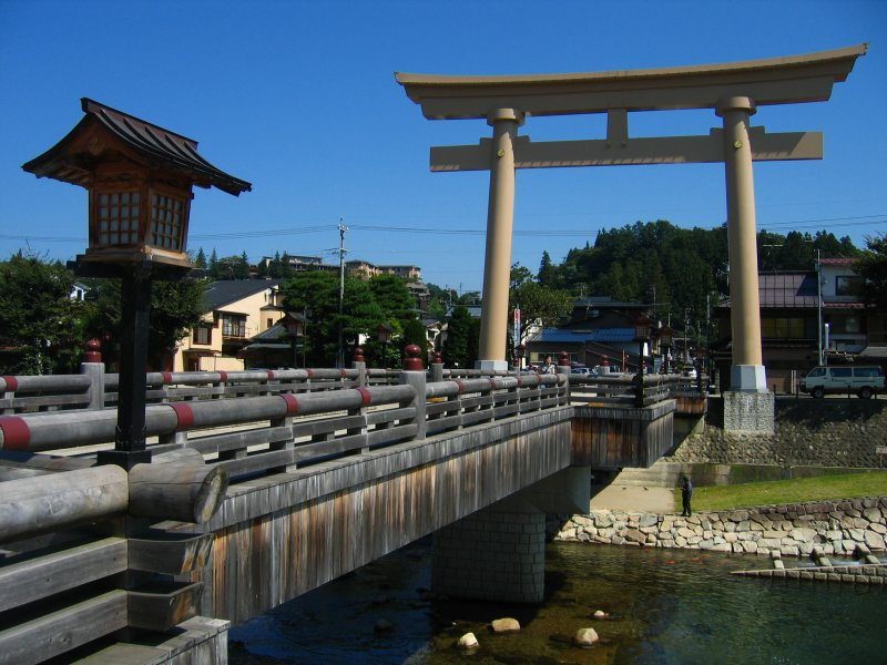 Torii on the Miyamae-bashi