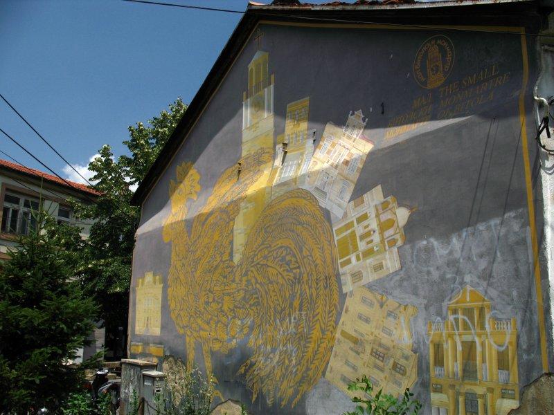 Wall mural in the bazaar