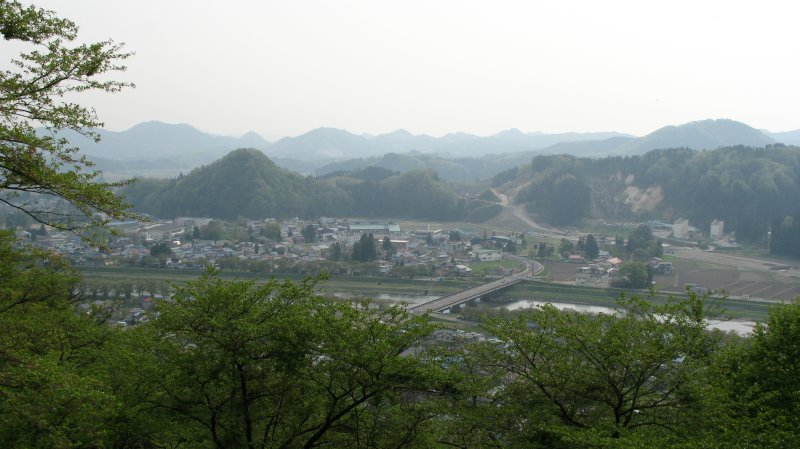 View over Kakunodates rural outskirts