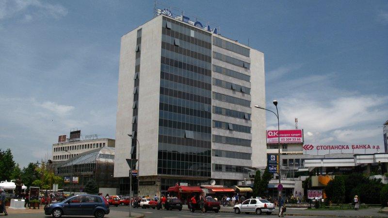 Macedonia Bank tower and Gradski Trgovski Center