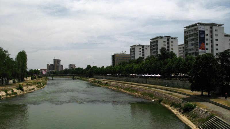 Tower blocks along the Vardar River