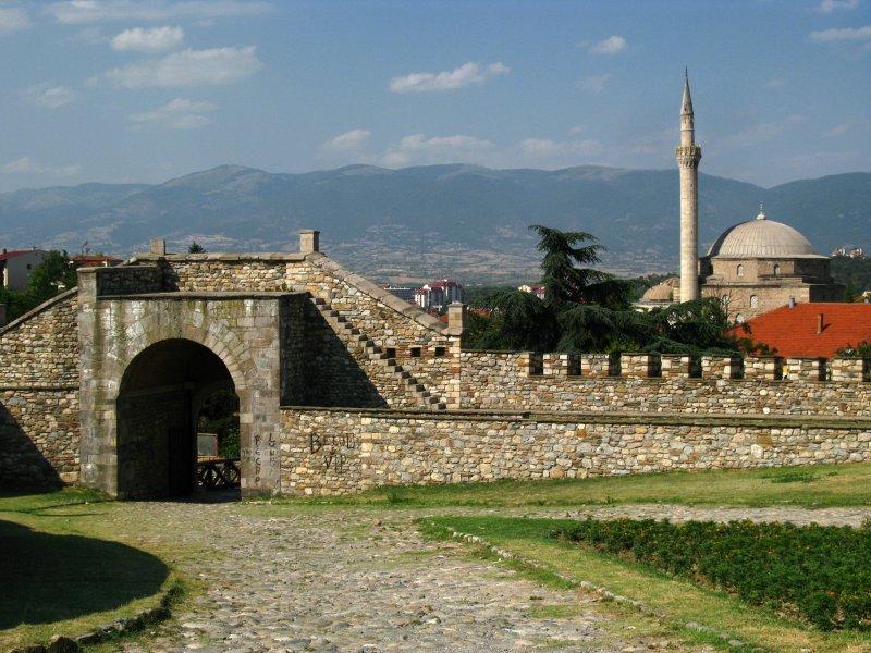 Main gate into Trvdina Kale
