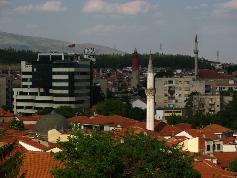 Čaršija skyline with Arka Hotel